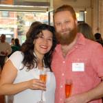 Event manager Cara Brigandi and artist Ted Beranis